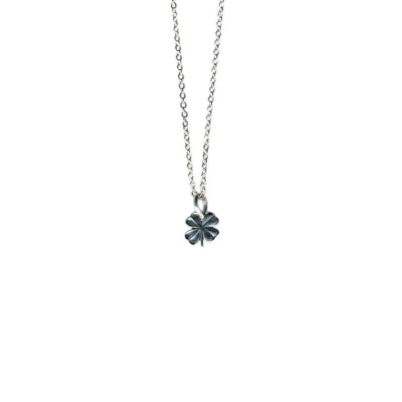 Tiny Four Leaf Clover Necklace | Giles & Brother