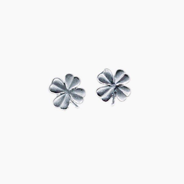 Tiny Four Leaf Clover Earrings | Giles & Brother
