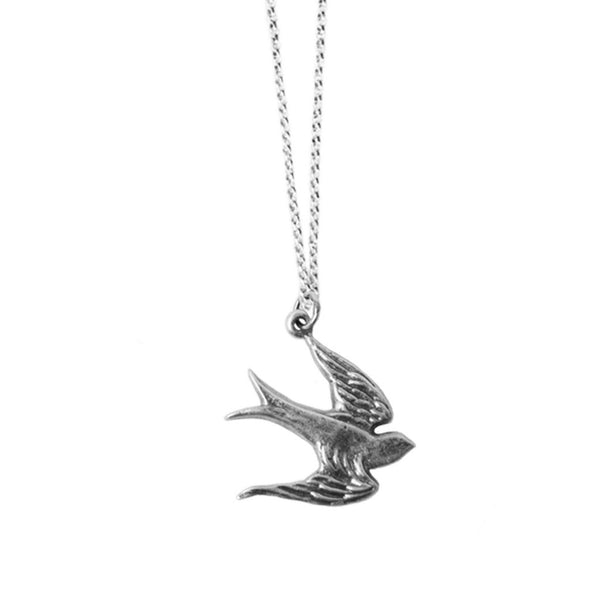 Small Sterling Silver Sparrow Necklace | Giles & Brother