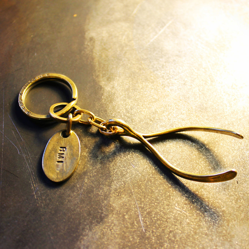 Wishbone Keyring | Giles & Brother
