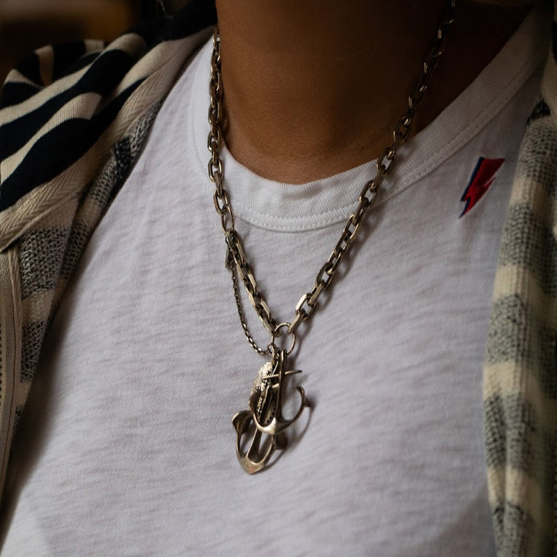 Triple Anchor Necklace | Giles & Brother