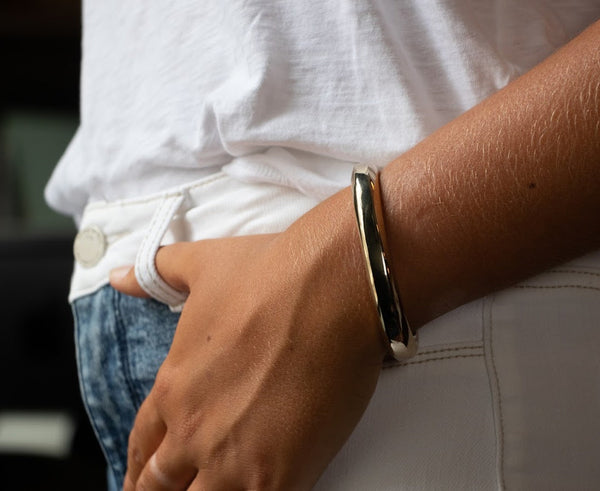 Polished Hex Cuff | Giles & Brother