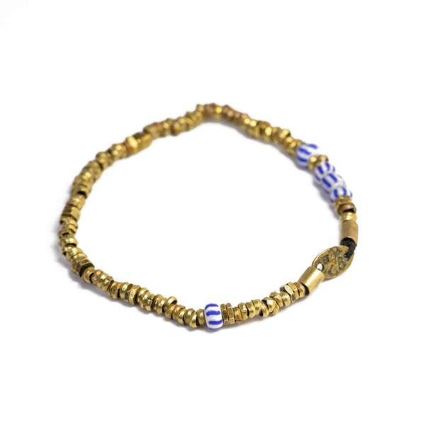 Vintage Heshi Bead Stretch Bracelet | Giles & Brother