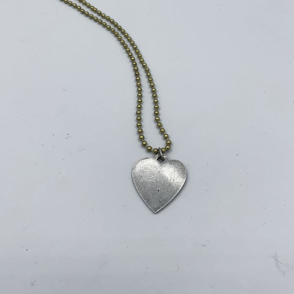 Heart Dog Tag Ball Chain Necklace
