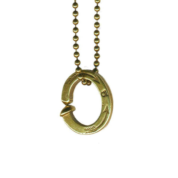 Railroad Spike Ring Necklace | Giles & Brother
