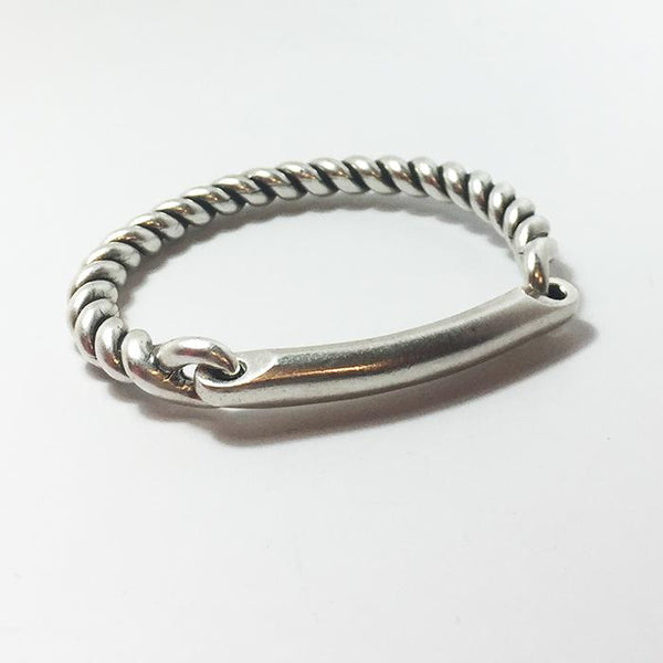 Twisted Hinge Cuff W/Id Bar | Giles & Brother