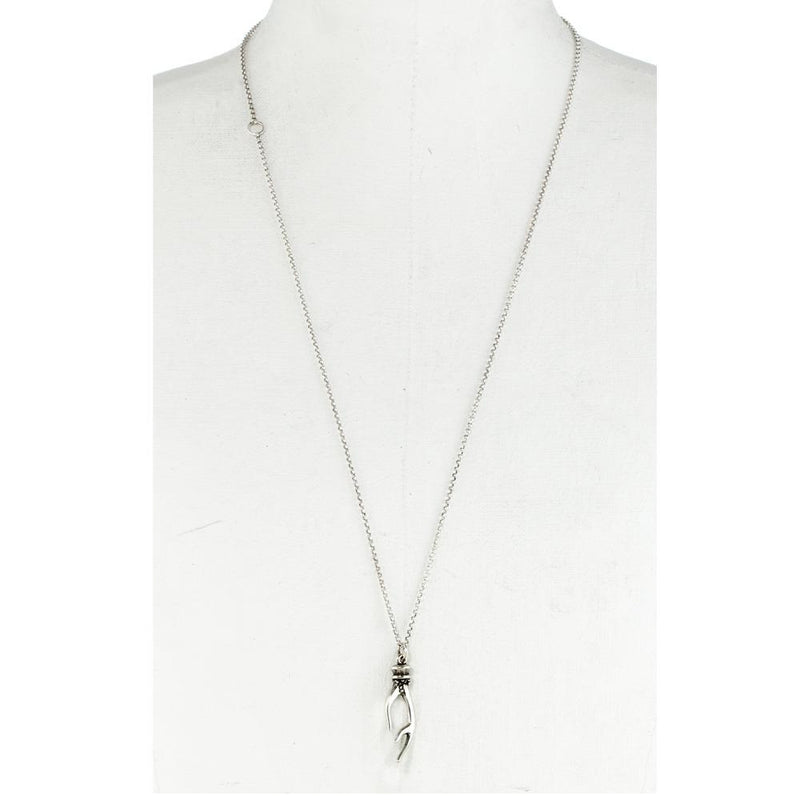 Small Antler Necklace Sterling Silver | Giles & Brother
