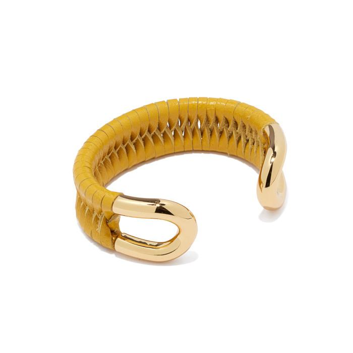Skinny Cortina Cuff with Leather Lashing | Giles & Brother