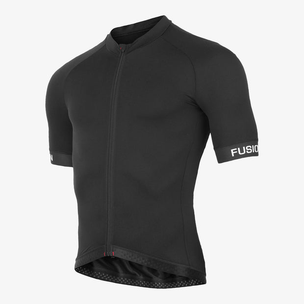 FUSION MENS C3 PLUS CYCLING JERSEY - BLACK / L