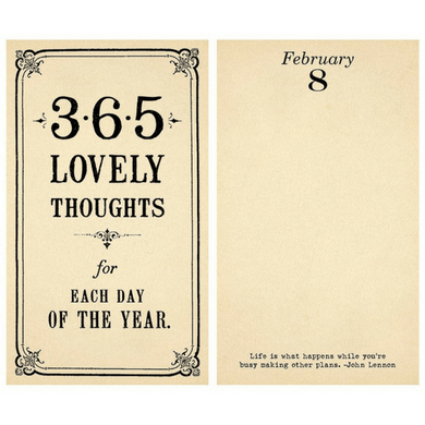 365 Lovely Thoughts Note Pad