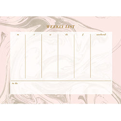 Marble Weekly List Pad