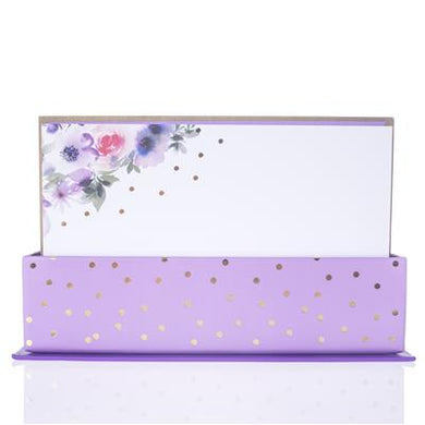 Flat Note Cards- Purple Floral Watercolor