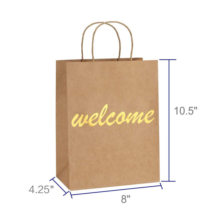 Brown and Gold Foil Welcome Bag
