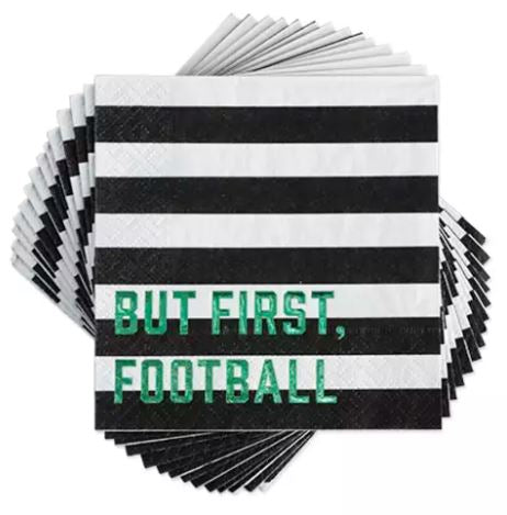 But First Football Cocktail Napkin
