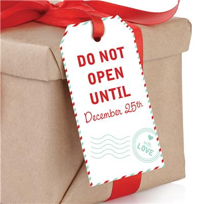Do Not Open Until December 25th Gift Tags