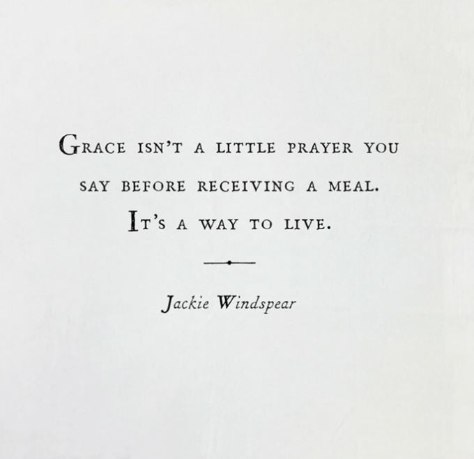 Grace isn't a little prayer Tea Towel