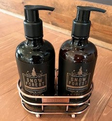 Snow Forest Hand Soap & Lotion Caddy