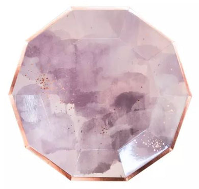 Light Purple WaterColor- Dinner Plates