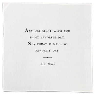 Tea Towel with Quote - A.A. Milne