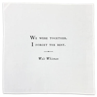 Tea Towel with Quote - Walt Whitman quote
