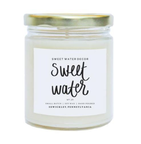 Sweet Water Soy Candle - 9oz.