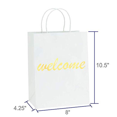 White and Gold Foil Welcome Bag