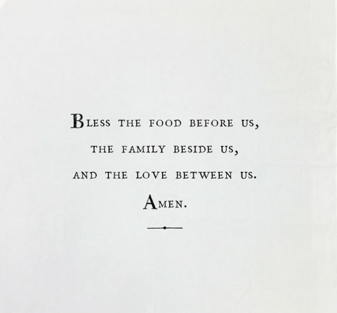 Bless The Food Before Us - Tea Towel