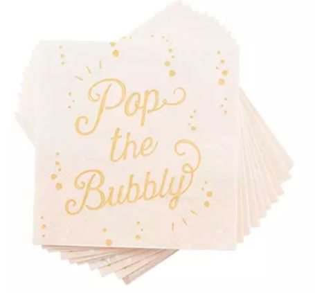 Pop the Bubbly - Cocktail napkin