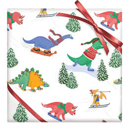 Christmas Gift Wrap- Extreme Winter Dinos