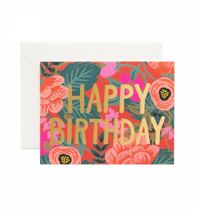 Happy Birthday  Floral -Greeting Card