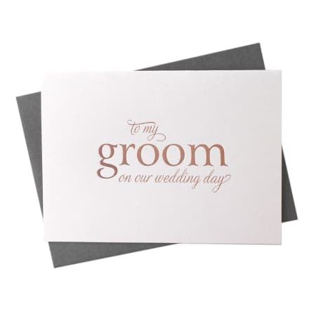 To my Groom on our Wedding Day - Greeting Card