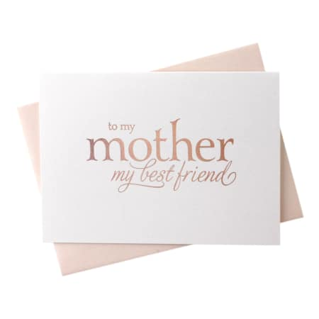 To My Mother, My Best Friend- Greeting Card