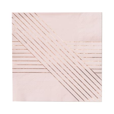 Pink and Rose Gold Small Napkins