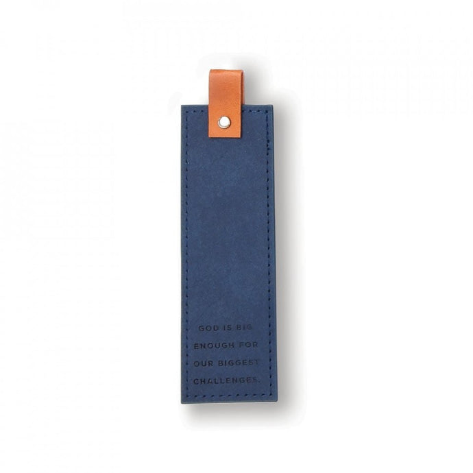 Navy Embossed Bookmark