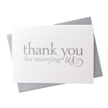 Thank you for Marrying Us -  Card