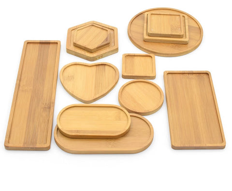 Bamboo plates for home decoration or kitchen use