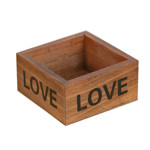 Rustic Natural Wood Storage Box