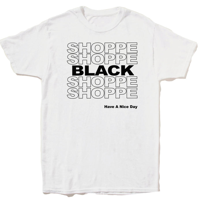 SHOPPE BLACK T-shirt (White)