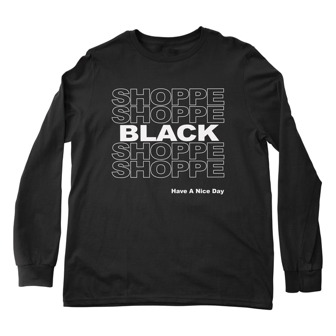 SHOPPE BLACK long sleeve tee (Black)
