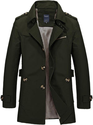 Long Sleeve Buttons Lapel Wind Coat