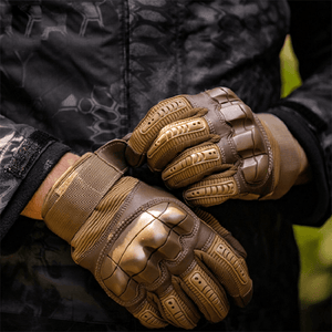 Hard Knuckle Carbon Fiber Gloves