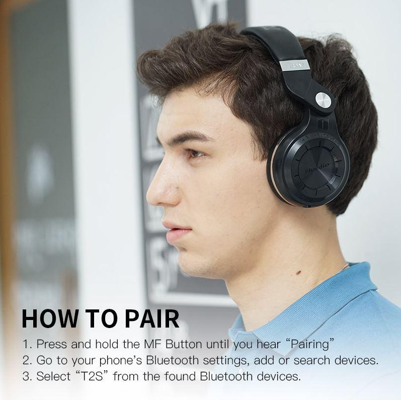 Bluedio T2S Bluetooth Headphones With Microphone [SPECIAL OFFER]