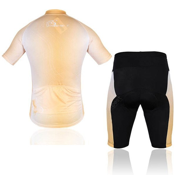 Men Bicycle Cycling Clothing Shirt Jerseys Cycling Shorts  -  Orange
