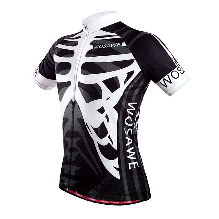 WOSAWE BC262 Men Quick Dry Skeleton Cycling Jerseys