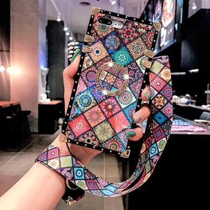 High Quality Bohemian Lanyard Ring Phone Case For Samsung