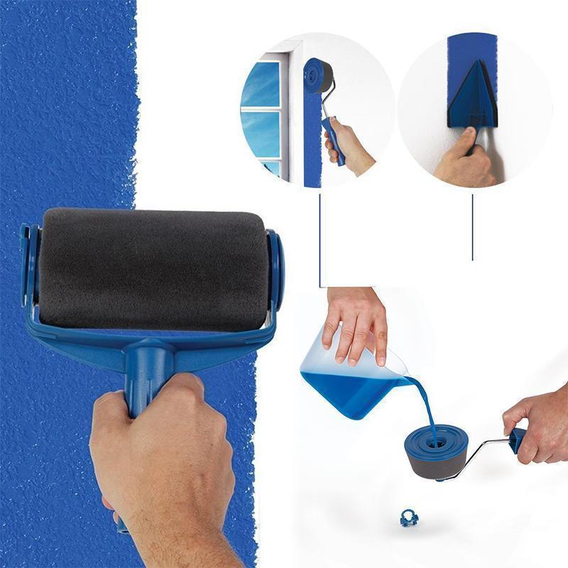 Bluesea™ Paint Roller Brush Painting Handle Tool