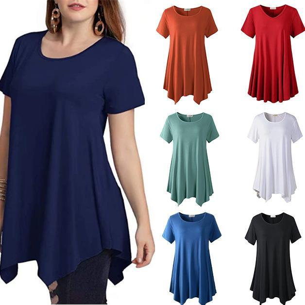 Loose fit comfortable panel T-shirt(BUY 2 GET FREE SHIPPING)