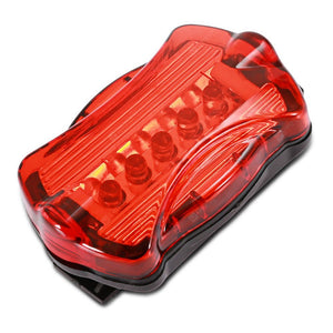 5-LED Bike Head Flash Light Bicycle Rear Warning Lamp