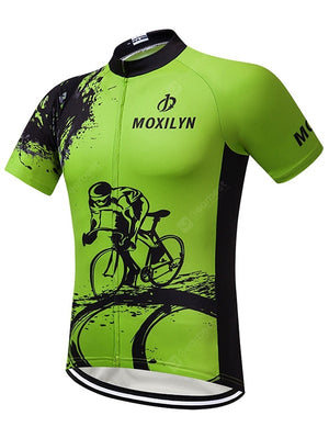 New Spring And Summer Bicycle Mountain Bike Jersey Short-sleeved Shirt Sweat-absorbent Breathable And Quick-drying