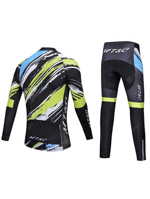 MT&C New Long-sleeved Cycling Suit Set Graffiti Personalized Men And Women Models Cycling Clothing